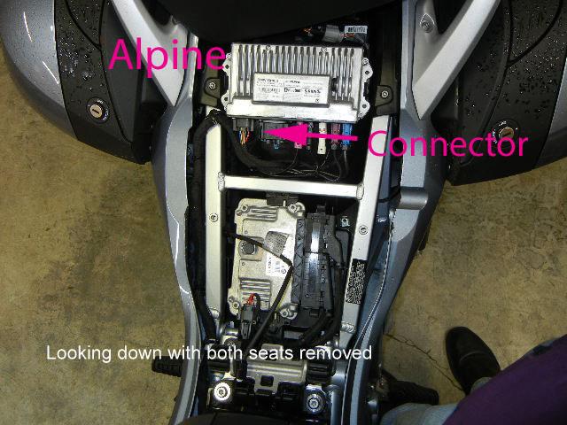Hard wired audio with pictures | BMW Luxury Touring Community | Bmw K 1600 Alpine Wiring Diagram |  | BMW Luxury Touring Community