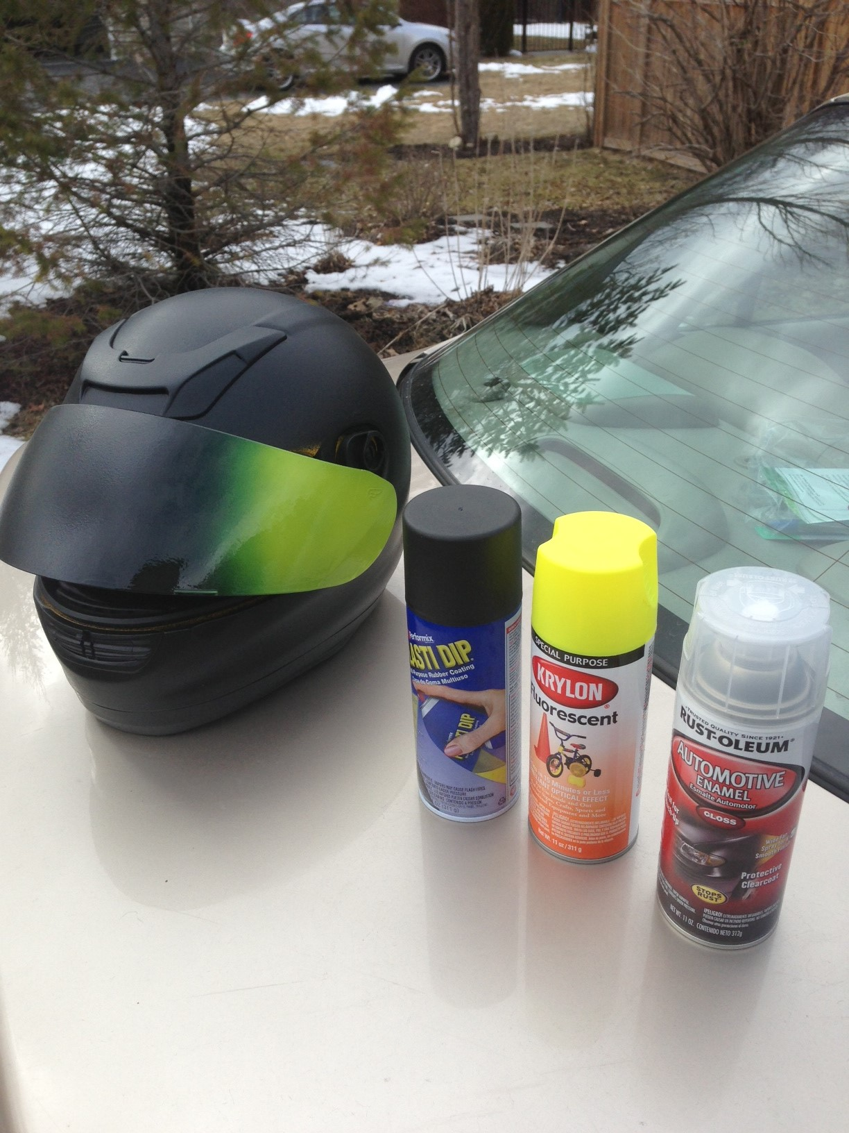 Plasti Dip - has anyone painted their bike with it? - BMW