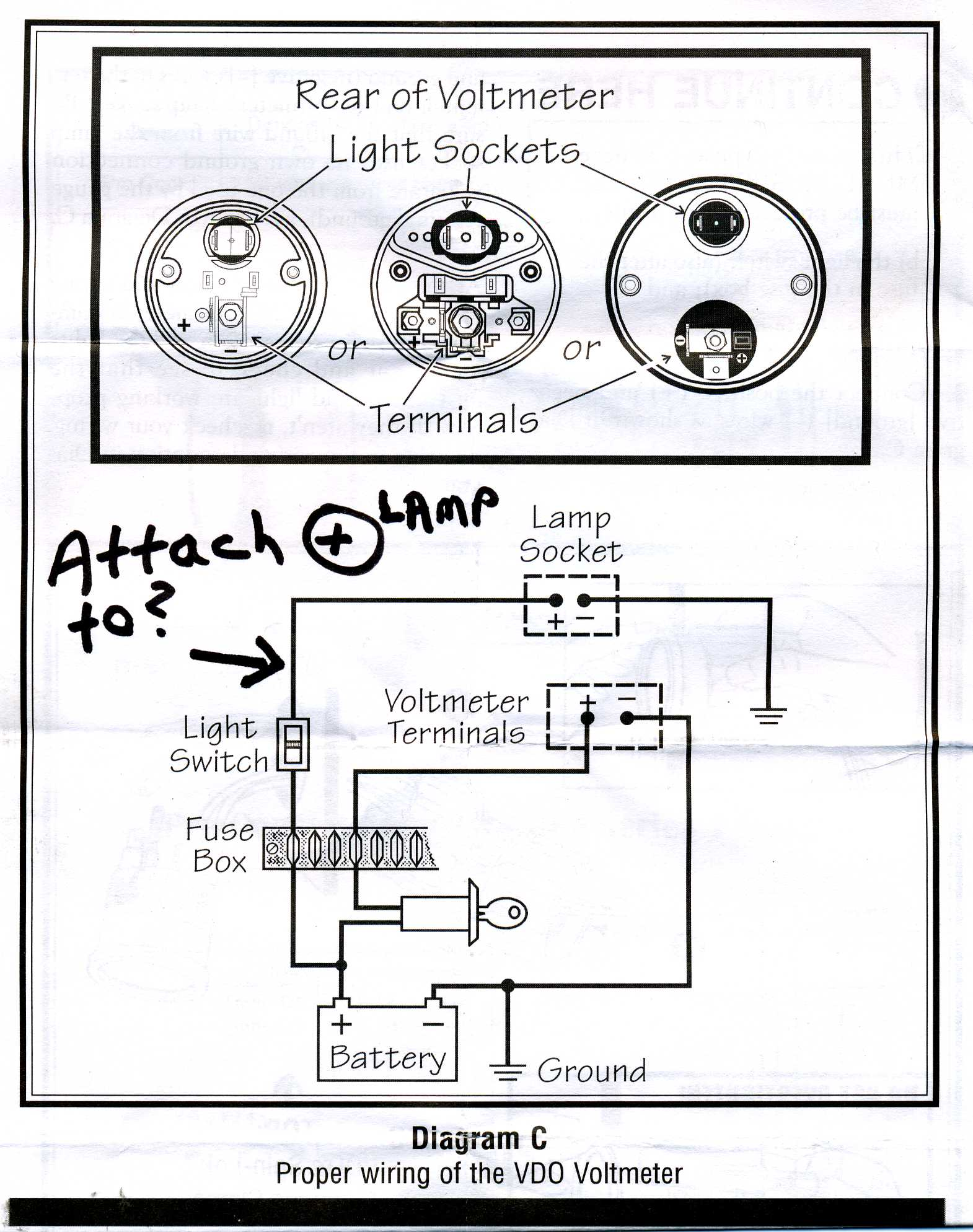 vdo voltmeter gauge wiring diagram wiring diagram and schematic vdo pyrometer wiring diagram digital
