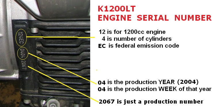 Engine Code Location On 1999 K1200lt Bmw Luxury Touring Community