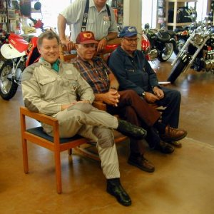 Old aviators at Deming Cycle Center, NM, 1999