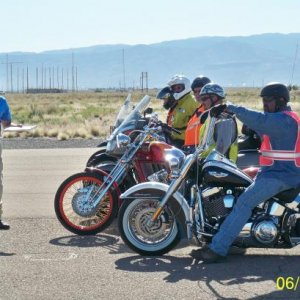 Instructing Experienced Riders Course at Holloman AFB, NM in 2010