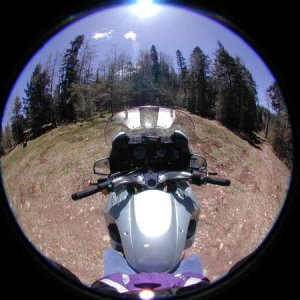 Fisheye pic on '97 BMW R1100RT