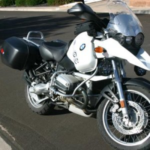2002 R1150GS before ride from NM to Arctic Circle then Mexico in 2008