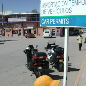 Ride to Copper Canyon, Mexico, in 2003. One of several document processing stops.