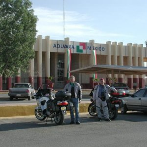 Border processing stop in Warez, Mexico, on the way to Copper Canyon, 2003