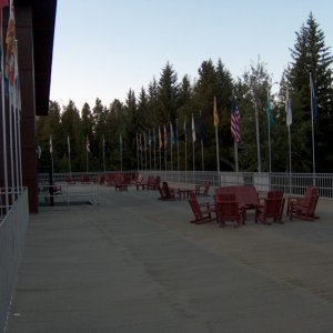 Flag terrace at the lodge