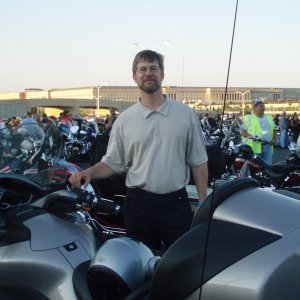 Me and my bike at the Pentagon day 2 of the americas 911 ride