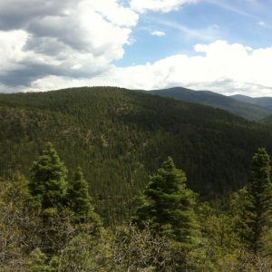 Overlook on the high road to Taos